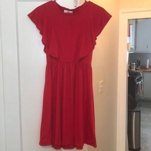 Amelia James Red Dress size Medium short sleeves